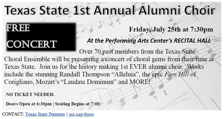 Alum. Choir Announcement